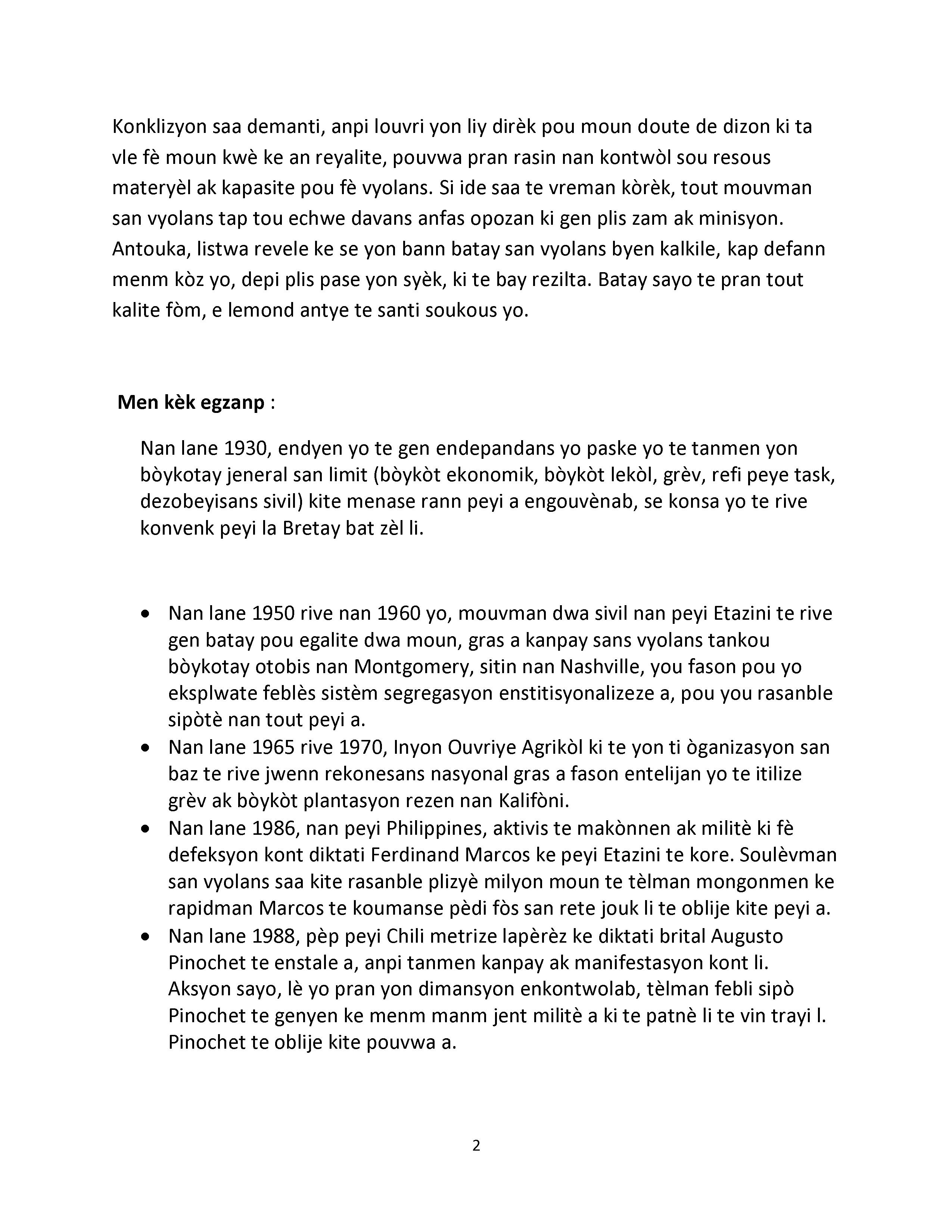 Trifekta Rezistans Sivil : Inite, Planifikasyon, Disiplin.