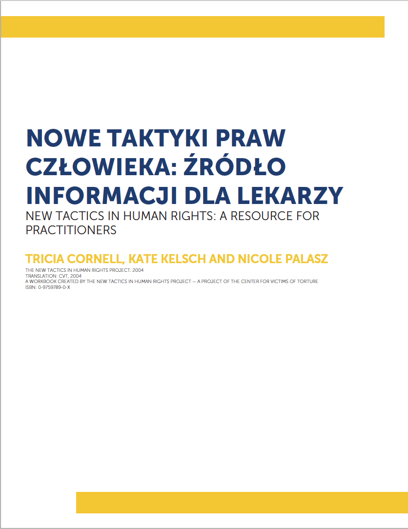 New Tactics in Human Rights: A Resource for Practitioners (Polish–Partial translation)