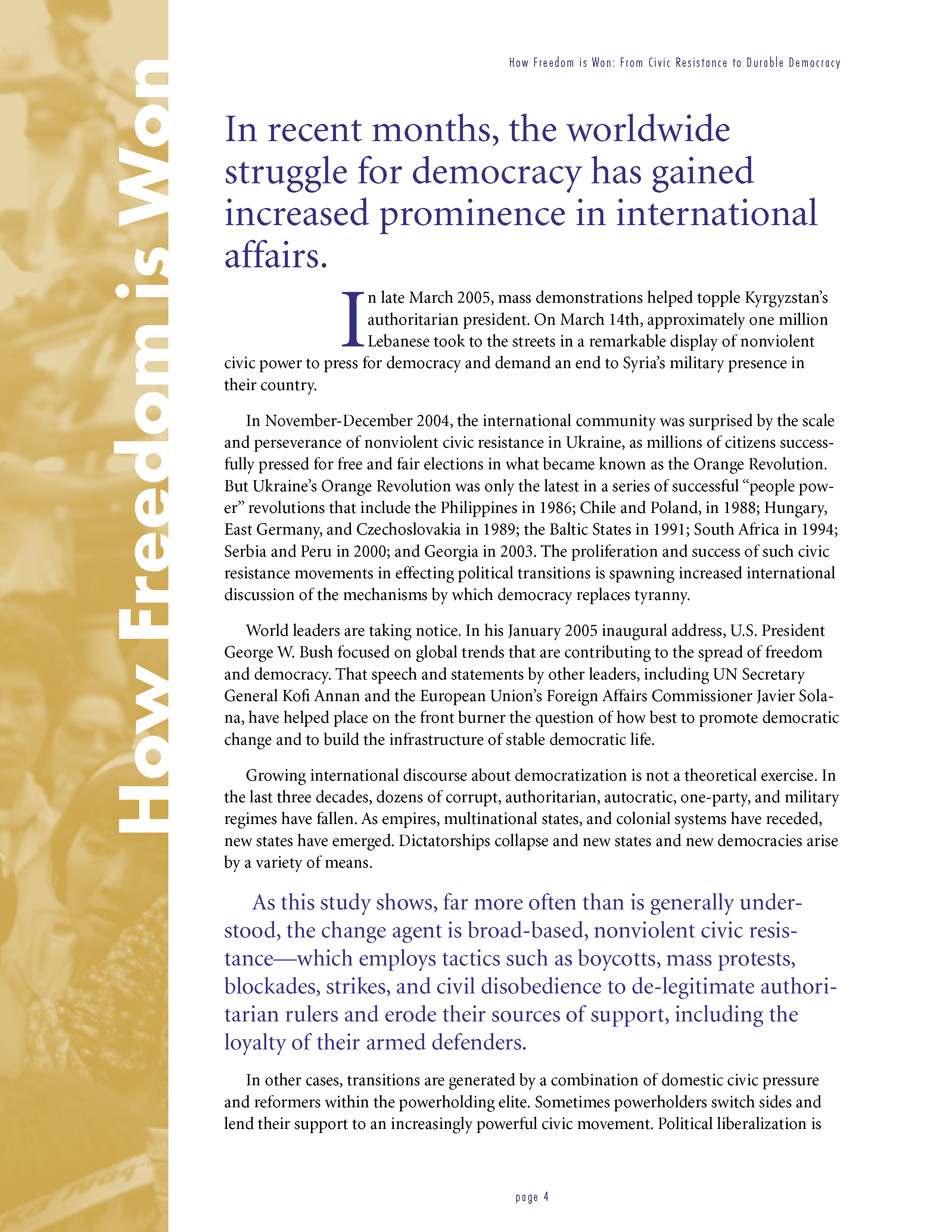 How Freedom is Won: From Civic Resistance to Durable Democracy
