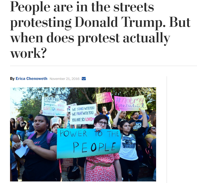 People are in the streets protesting Donald Trump. But when does protest actually work?