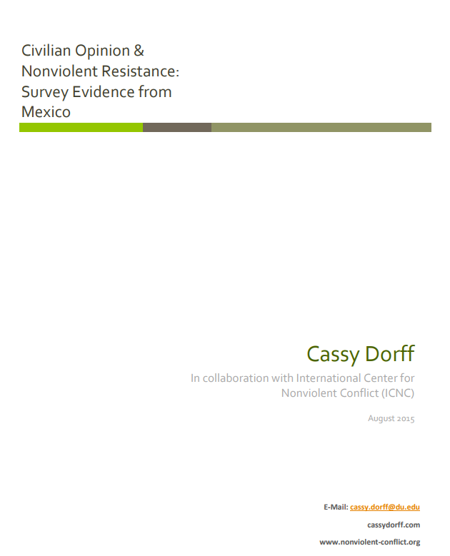 Civilian Opinion & Nonviolent Resistance: Survey Evidence from Mexico
