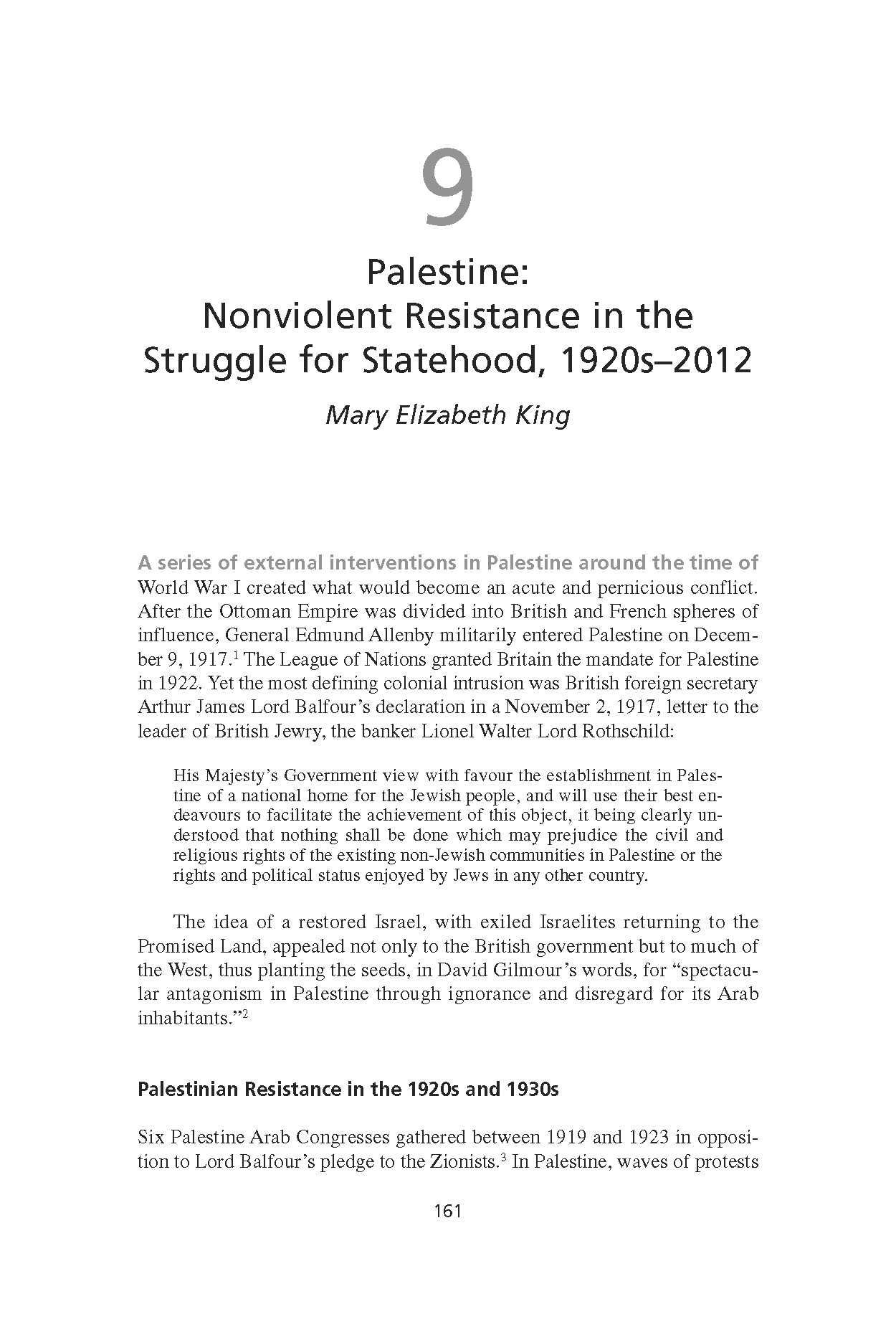 Palestine: Nonviolent Resistance in the Struggle for Statehood, 1920s-2012 (Chapter 9 from 'Recovering Nonviolent History')