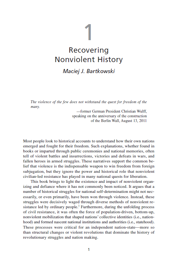 Recovering Nonviolent History (Chapter 1 from 'Recovering Nonviolent History')