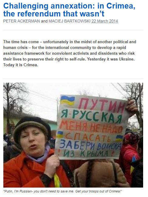 Challenging Annexation In Crimea The Referendum That Wasnt Peter Ackerman And Maciej Bartkowski