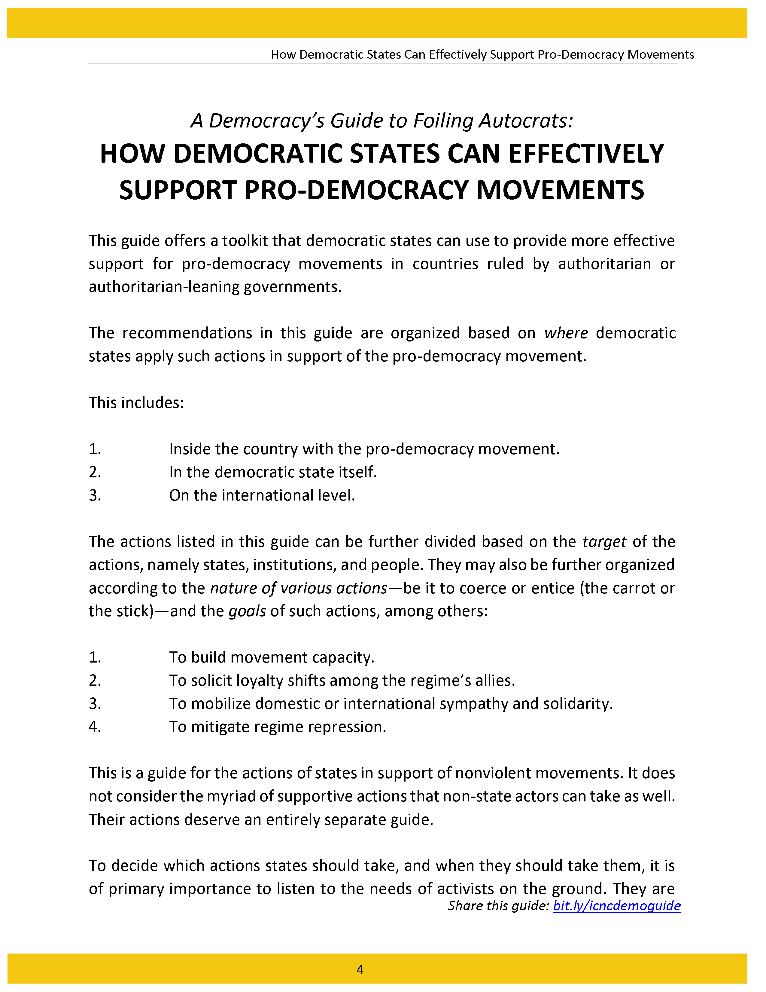 How Democratic States Can Effectively Support Pro-Democracy Movements